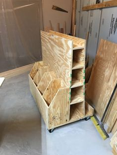 Made this wood storage unit. Design and plans by Made this wood storage unit. Design and plans by Lumber Storage Rack, Lumber Rack, Wood Storage Sheds, Diy Garage Storage, Plywood Storage, Tool Storage, Storage Ideas, Woodworking Projects Diy, Woodworking Furniture