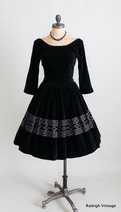 early 1960s black velvet cocktail dress by Jonathan Logan.  https://www.etsy.com/listing/113433217/vintage-1960s-dress-60s-black-velvet