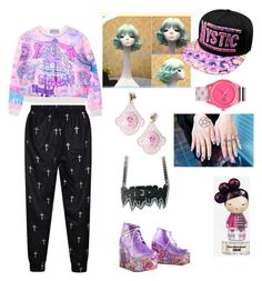 """Harajuku pastel goth?"" by neon-life ❤ liked on Polyvore featuring Harajuku Lovers, Chicnova Fashion, Tarina Tarantino, women's clothing, women's fashion, women, female, woman, misses and juniors"