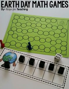 FREE Earth Day Math Games: Minus One Coverall, Race to the Recycling Bin, and Earth Day Themed Ten Frames!