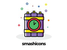 Badges and Army Icons (Cartoony Style) │Smashicons.com by Richard Wearn