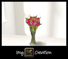 I've created this using My Interflora Creation – what will you create? My Flower, Flowers, Build Your Own, Glass Vase, Bouquet, Create, Home Decor, Diy, Bouquet Of Flowers