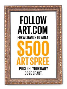 Chance to win some art? Yes, please! Love art? Tune in tomorrow at 2:00 PM PST for more deets.