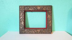 Rustic Elegance   Antique Wooden Picture Frame with by AdoredAnew