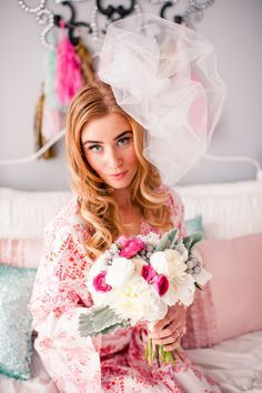 'Will You Be My Bridesmaid?' Slumber Party! http://www.theperfectpalette.com - Katherine Henry Boudoir, Making Me Events, Blush Paper Co.