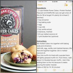 Kodiak cake muffins