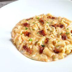 Pasta e patate cremosa con provola e pancetta - di Giovanni Venditti #fuudly #ricette