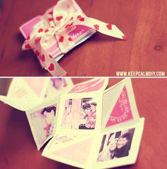 KeepCalmDIY: DIY: Presente Dia dos Namorados | Cartão álbum