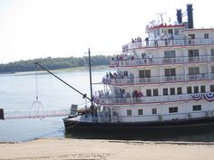 Queen of Mississippi, docked in Cape Girardeau 8-30-12 by Cape Girardeau Convention and Visitors Bureau, via Flickr