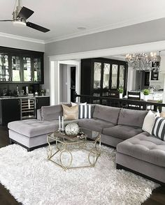 Living Room Design With Grey Sofa Simple Living Room With Medium Beige Frieze Twisted Carpet Flush Light Inspiration Design