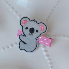 Cute Koala Hair Clip- Fun Felt Bow for Girls