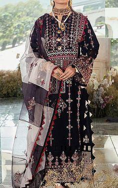 Pakistani Dresses Online Shopping, Online Dress Shopping, Pakistani Lawn Suits, Clothes For Sale, Kimono Top, Fashion Dresses, Indian, Black, Tops