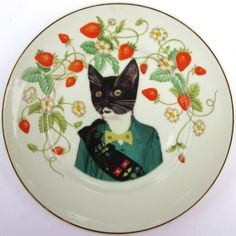 Kitty Scout Portrait - Altered Vintage Plate