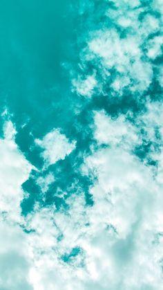 Tumblr Wallpaper, Screen Wallpaper, Aesthetic Backgrounds, Aesthetic Iphone Wallpaper, Aesthetic Wallpapers, Turquoise Wallpaper, Pastel Wallpaper, Teal Wallpaper Iphone, Cloud Wallpaper