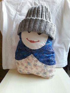 Matryoshka thinks the grey beanie adds cool and edge to her style :-). Matryoshka doll sewn by my Mum, ribbed beanie knitted by me. Grey Beanie, Matryoshka Doll, Her Style, No Frills, Ms, Dolls, Cool Stuff, Sewing, Christmas