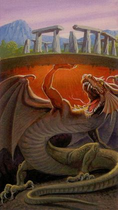 XI. Strength - Dragons Tarot by Manfredi Toraldo, Severino Baraldi