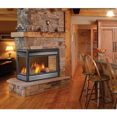 two sided fireplace | SALE! Napoleon 2-sided See-Through Gas ...