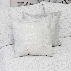 White & Silver Pillows