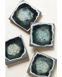 Set your holiday drinks on these celestial coasters! Get them here: http://www.bhg.com/shop/anthropologie-celestial-coaster-set-p4df103d89617cafe152be9db.html