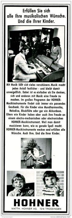 Original-Werbung/ Anzeige 1970 -  HOHNER / TROSSINGEN - ca. 65 X 220 mm