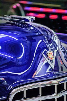 Cadillac Hood Ornament - Emblem - Car photographs  by Jill Reger