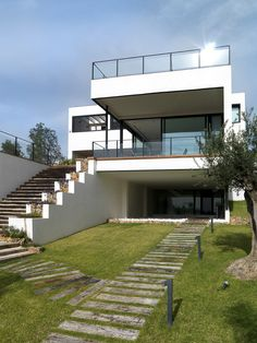 Time House White Residence in Spain Incorporating Modern Volumes by LADAA Studio