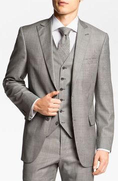 Hart Schaffner Marx Three Piece Plaid Suit available at #Nordstrom