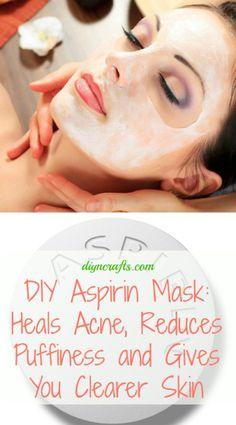 Aspirin Mask: Heals Acne, Reduces Puffiness and Gives You Clearer Skin DIY Aspirin Mask: Heals Acne, Reduces Puffiness and Gives You Clearer Skin.DIY Aspirin Mask: Heals Acne, Reduces Puffiness and Gives You Clearer Skin. Bb Beauty, Beauty Care, Beauty Skin, Hair Beauty, Aspirin Mask, Aspirin For Acne, Diy Masque, Beauty Hacks For Teens, Beauty Recipe