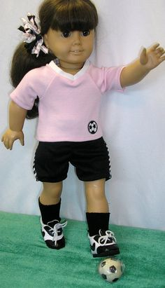 American Girl doll soccer outfit  fits 18 by NanaJerrisCreations, $18.00