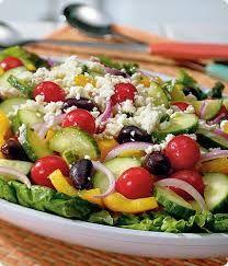 Roasted Greek Veggie Salad Sandwich.