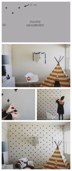 DIY Ideas for Painting Walls - DIY Washi Tape Wall Decals - Cool Ways To Paint Walls - Techniques, Tips, Stencils, Tutorials, Fun Colors and Creative Designs for Living Room, Bedroom, Kids Room, Bathroom and Kitchen http://diyprojectsforteens.com/cool-ways-to-paint-walls