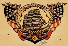 This Sailor Jerry original features all the hallmarks of the tattoo master. Doll up those dreary hulls of the home with this nautical masterpiece. All of our prints are beautifully rendered on 13 by 1
