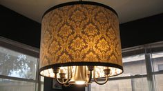 Awesome light fixture redo.  I have a few of these dated lighting fixtures that need a similar treatment.
