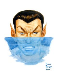 Namor by Paolo Rivera Marvel Comic Universe, Comics Universe, Marvel Art, Marvel Heroes, Marvel Comics, Defenders Marvel, Heroes For Hire, Sub Mariner, Invisible Woman