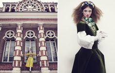 The Anastasia Of WinterThe Anastasia Of Winter Vogue Japan December 2013 via Fashion Copious) Dolce & Gabbana · Emma Summerton · Lindsey Wixson · Russia · Vogue