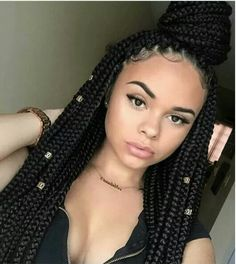 Box Braided Queen...Try More Box Braid Styles Here: http://www.naturalhairmag.com/5-quick-box-braid-hair-styles/ IG:@_therealmami #naturalhairmag #protectivestyles