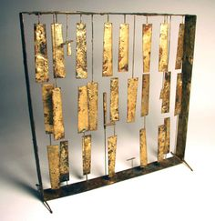 Rare Early Harry Bertoia Melt-Coat Panel Sculpture | From a unique collection of antique and modern sculptures at http://www.1stdibs.com/furniture/more-furniture-collectibles/sculptures/