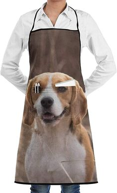 Schürze Kochschürze Beagle Dog Aprons Bib Adjustable Polyester Mens Womens Long Full Kitchen Chef Cooking Gardening Apron for Indoor Restaurant BBQ Serving Grill Cleaning Crafting Baking Chef, Beagle, Bbq, Gardening, Restaurant, Crickets, Plants, Barbecue, Barrel Smoker