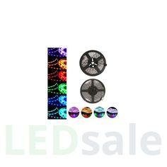 LED Nauha 5 metriä - 7.5w/m, 30 led/m - RGB (Roiskeenkestävä)