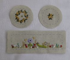 Carolyn Pearce 'Home Sweet Home' workbox project ~ the spool holder ready for assembly ~ embroidered by Janet Granger