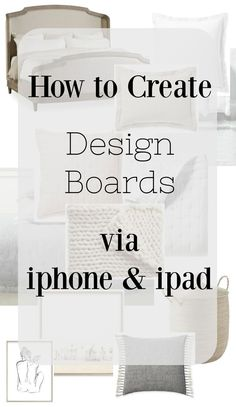 How to Create a Design Board via Phone and my Spring Bedding Plan – Nesting With Grace Comment créer un … Mood Board Interior, Interior Design Boards, Interior Design Business, Learn Interior Design, Interior Design Programs, Interior Design Portfolios, Bed Design, House Design, Design Design