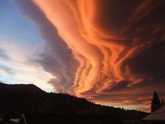 Sunset clouds, June Lake, California