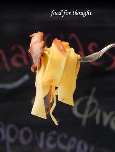 Food for thought: Παπαρδέλες με ψαρονέφρι, φινόκιο και καραμελωμένα κρεμμύδια