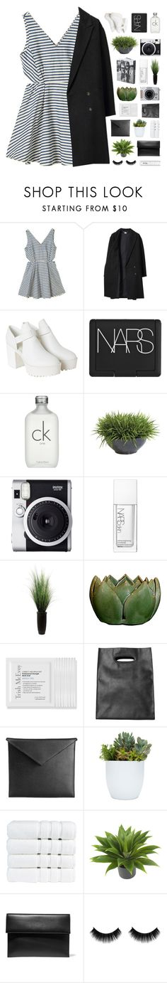"""""""that's just who i am this week"""" by city-pool ❤ liked on Polyvore featuring Les Prairies de Paris, Monki, NARS Cosmetics, Calvin Klein, Ethan Allen, Fuji, Laura Ashley, Trish McEvoy, Mark/Giusti and Christy"""