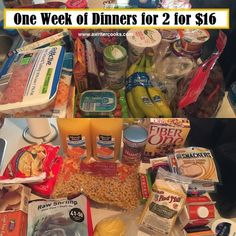 One Week of Dinners for 2 for $16 -A Writer Cooks