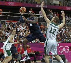 USA Men's Basketball vs Lithuania; close game