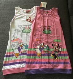 Neu Minnie Maus Micky Donald Tunika Kleid Gr.116/122 | eBay