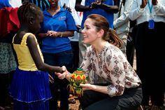 Crown Princess Mary pays a visit to Tierkidi Refugee Camp, Gambella, Ethiopia.16/02/2015