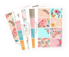Whimsical Floral Full Kit | Erin Condren Planner Stickers