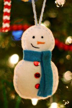 muñeco de nieve para el árbol #manualidades #navidad #decoracion #DIY #ideas #crafts